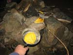 Cooking bannock on the campfire