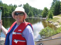 Jen at the portage